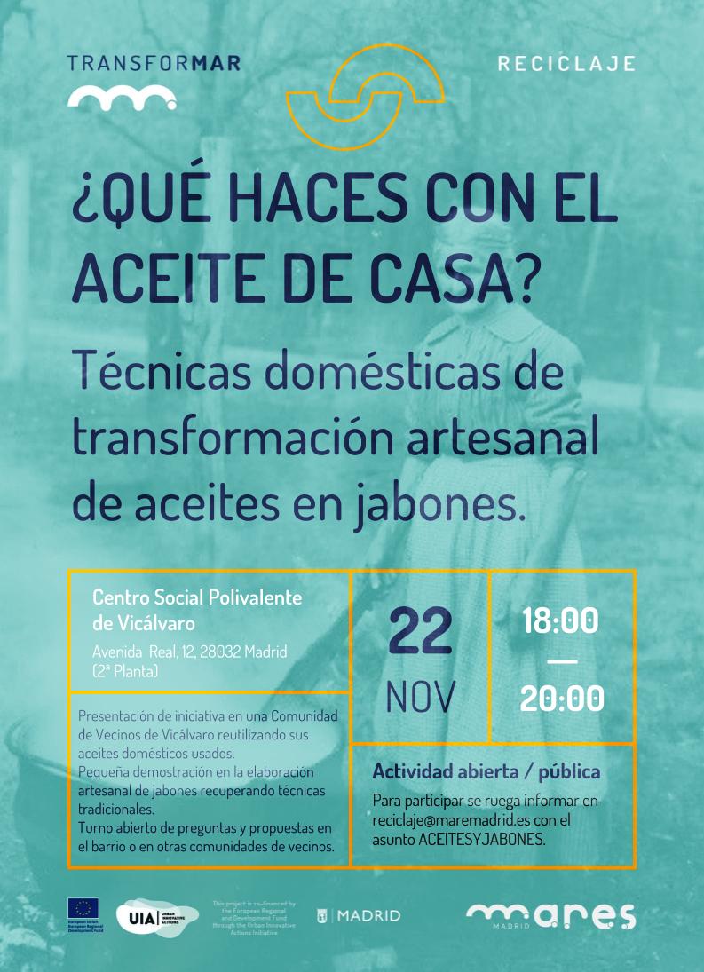 Qué haces con el aceite de casa? · Mares Madrid