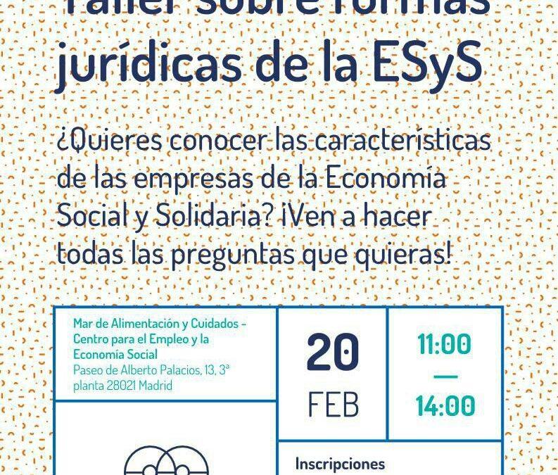 Taller sobre formas jurídicas de la economía social y solidaria