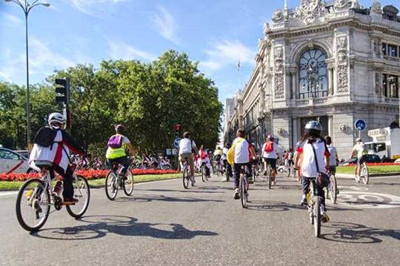 Camino Escolar Las Tablas en bici