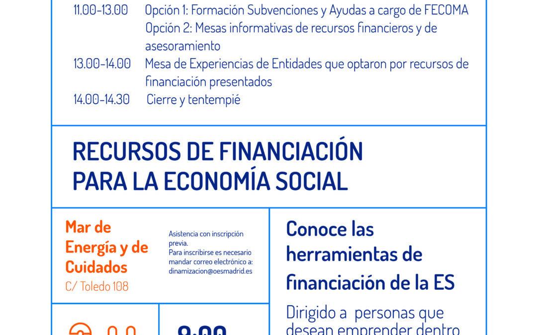 Recursos de financiación para la Economía Social