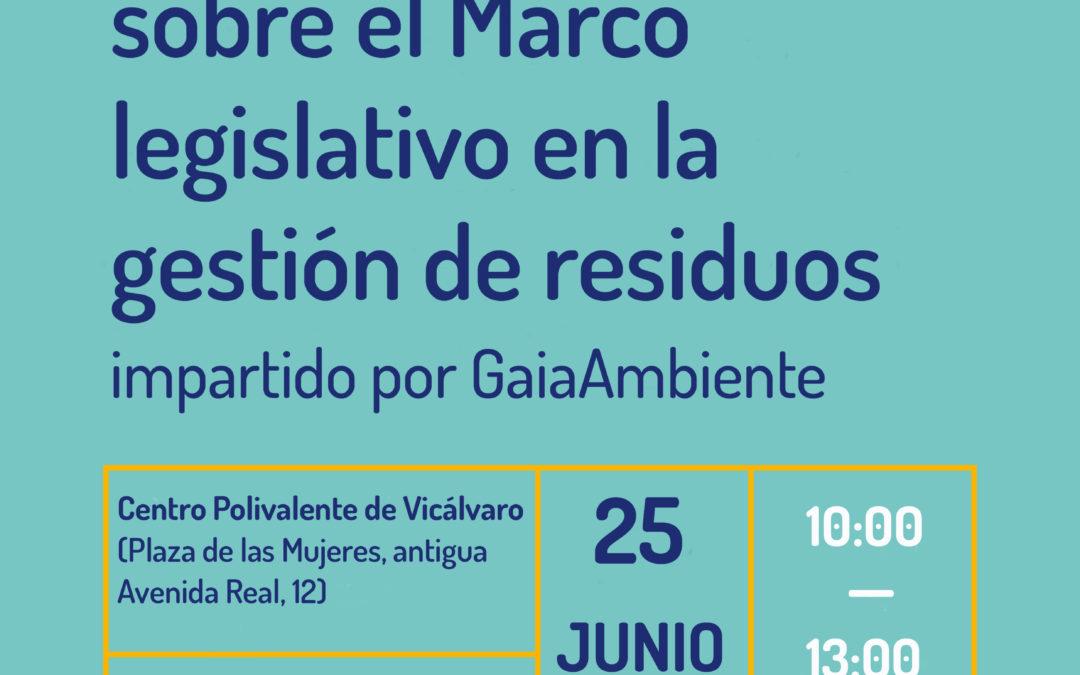 Formación sobre el marco legislativo en la gestión de residuos