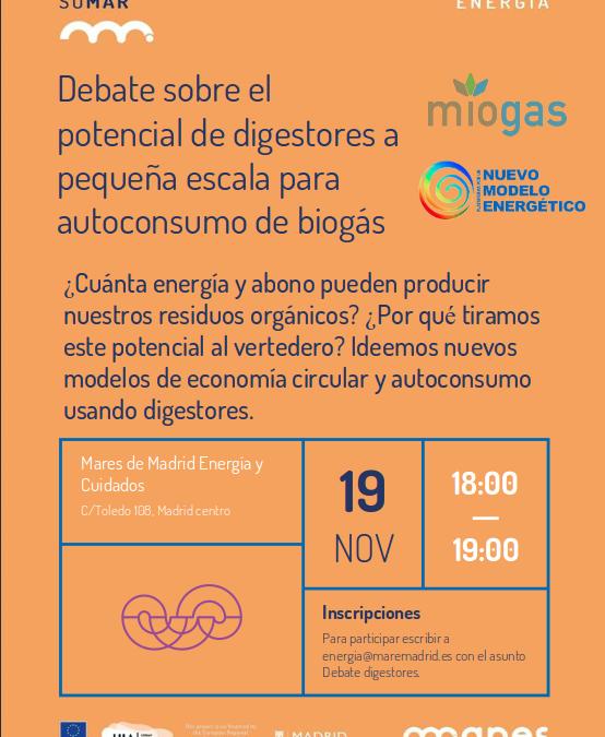 Debate sobre el potencial de digestores a pequeña escala para autoconsumo de biogás