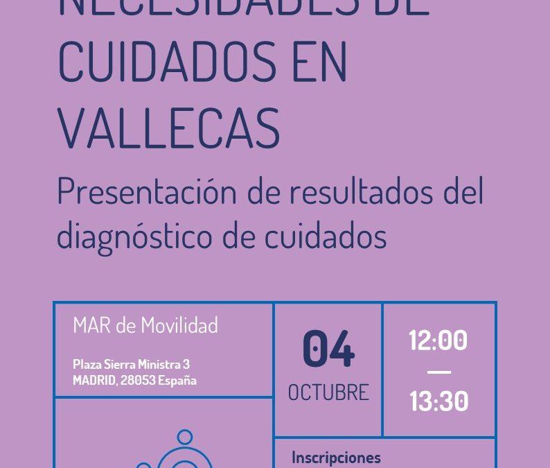 Presentación de las necesidades de cuidados en el distrito de Puente de Vallecas