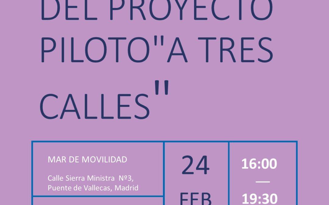 """Primer taller del proyecto piloto """"A tres calles"""""""