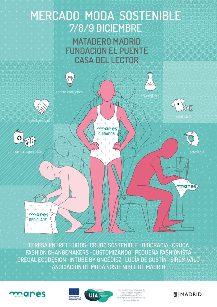Cartel del mercado de moda sostenible