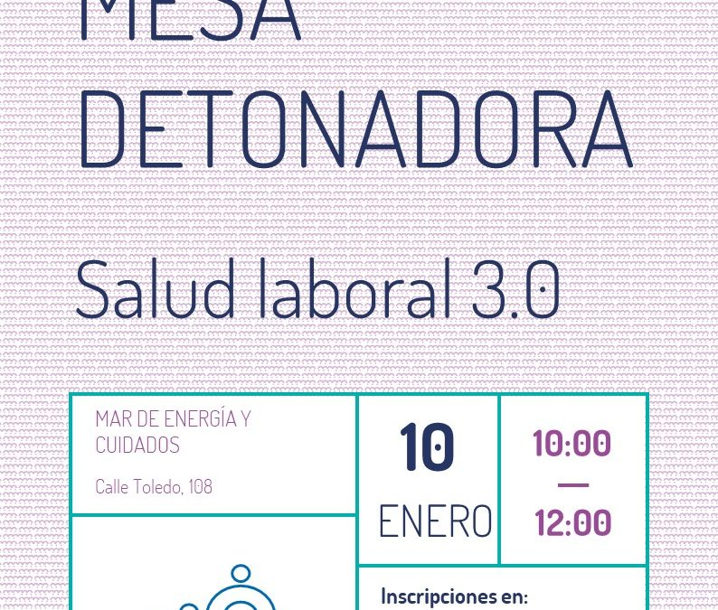 Mesa detonadora: Salud 3.0