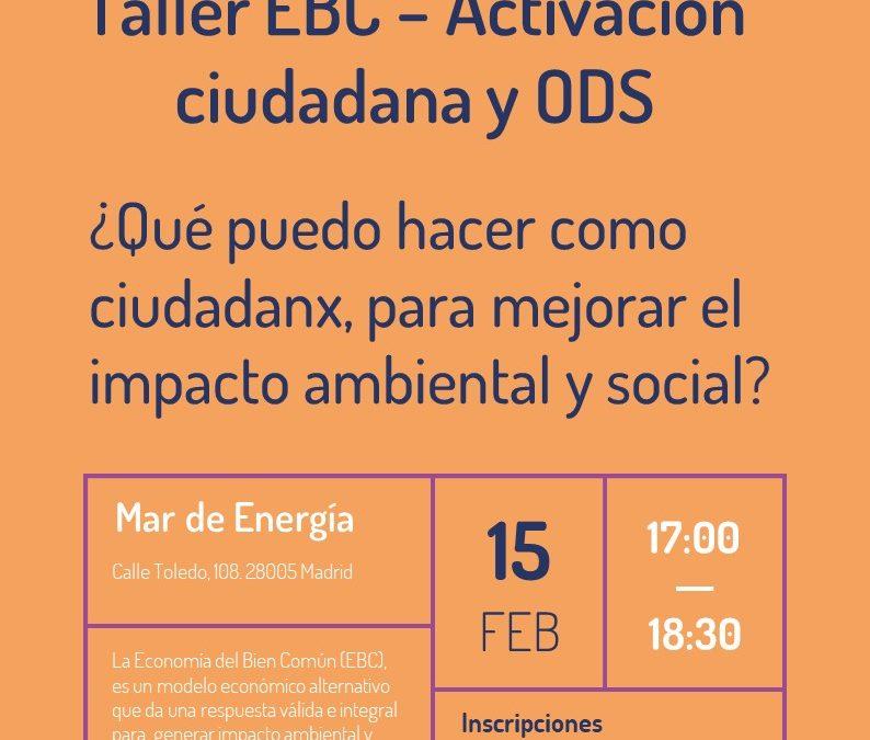 Taller sobre Economía del Bien Común – Activación ciudadana y ODS
