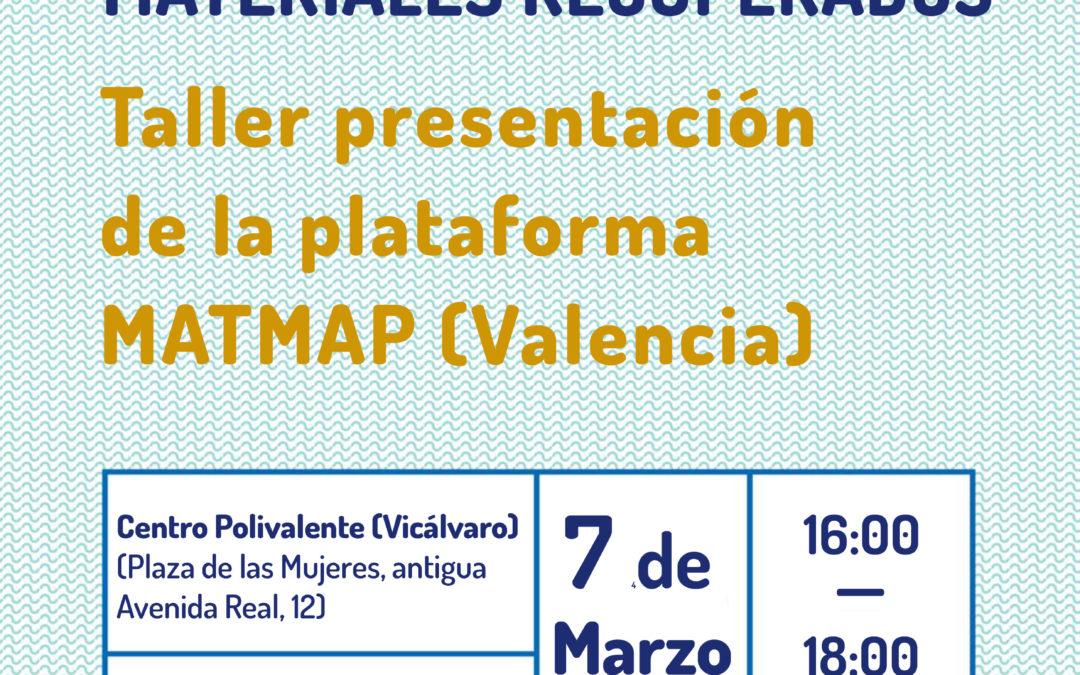 Taller presentación de la plataforma MatMap (Valencia)