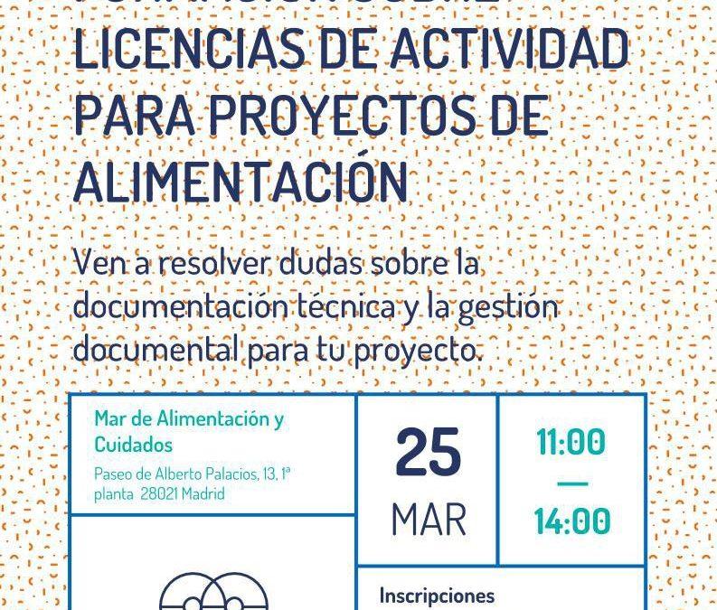 Taller sobre licencias de actividad para proyectos del Mar de Alimentación