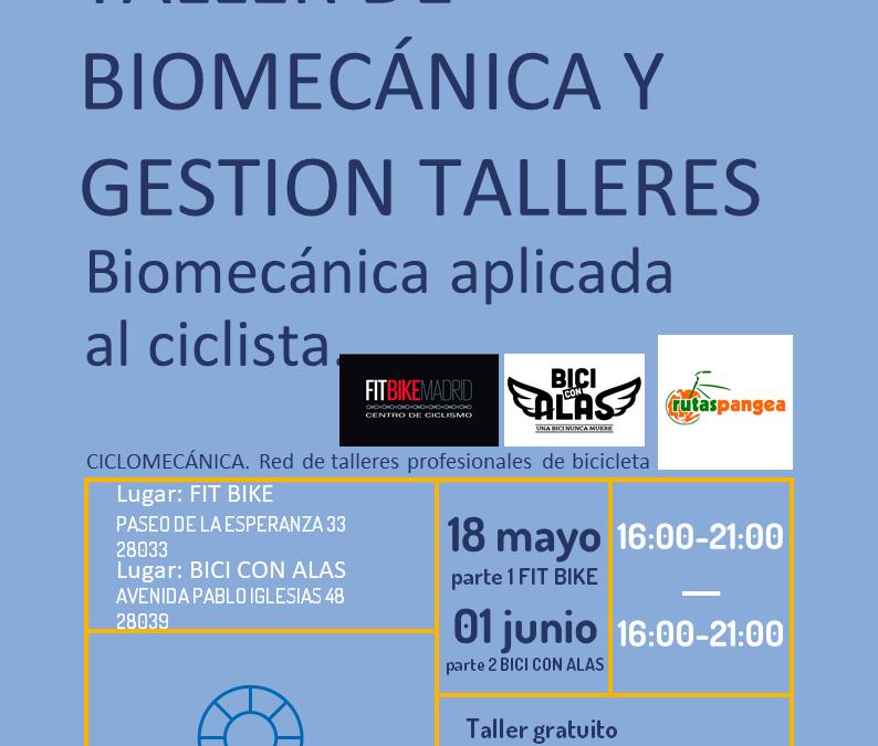 Taller de biomecánica aplicada al ciclista y gestión de talleres