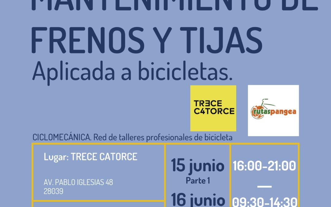 Taller de mantenimiento de frenos y tijas de bicicleta