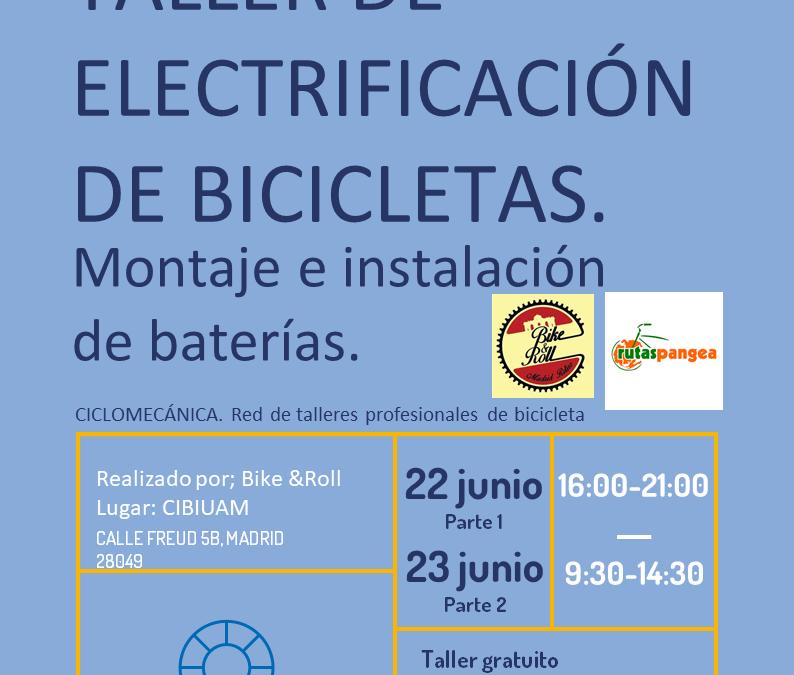 Taller gratuito de electrificación de bicicletas
