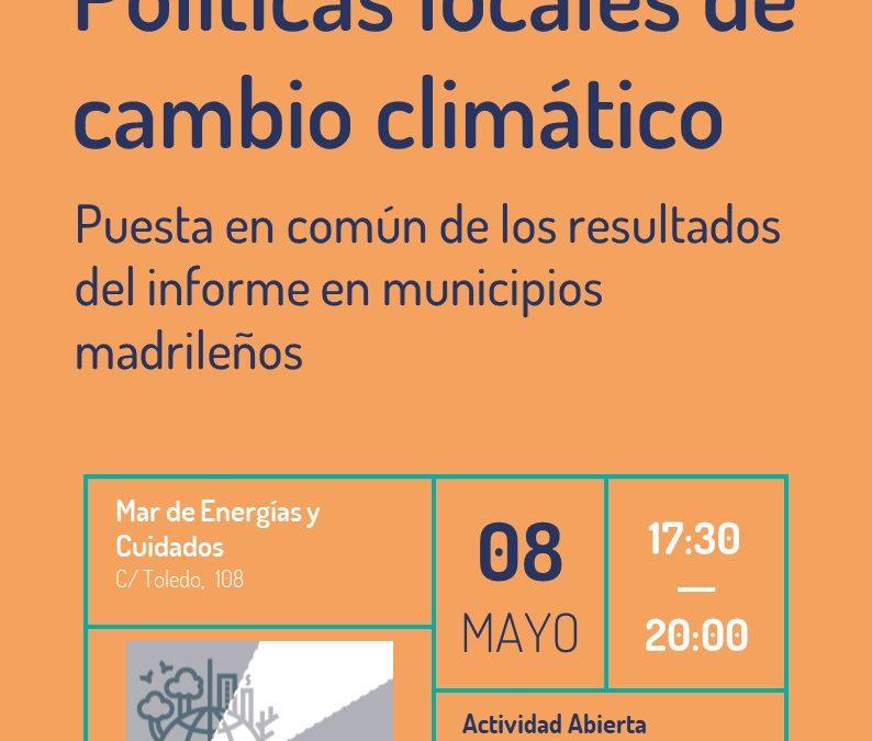 Presentación del informe de políticas locales de cambio climático