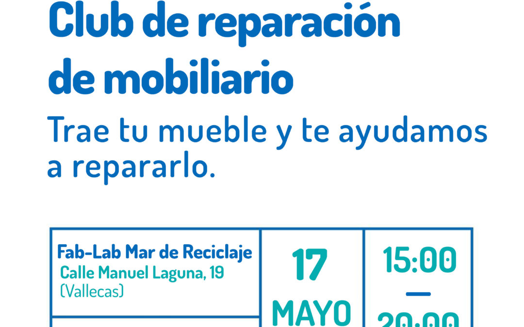 Taller Fab-Lab: club de reparación de mobiliario