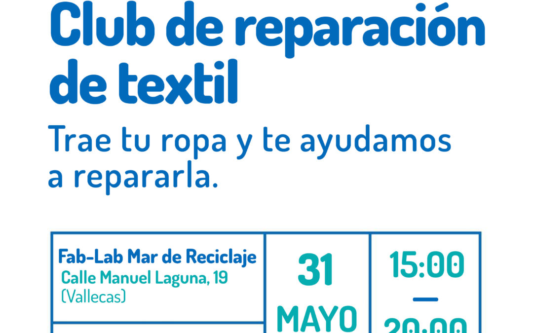 Taller Fab-Lab: club de reparación de textil