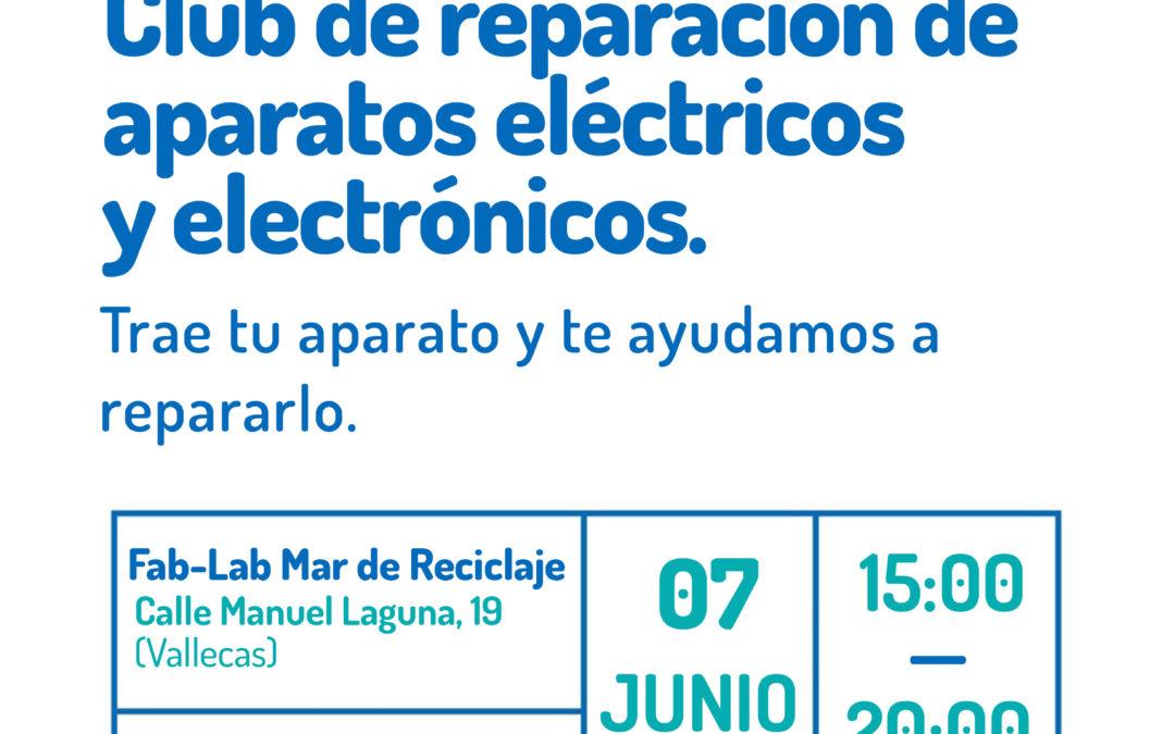 Taller Fab-Lab: Club de reparación de aparatos eléctricos y electrónicos. Trae tu aparato y te ayudamos a repararlo.