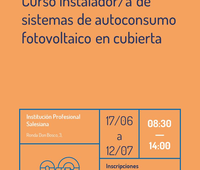 Curso instalador/a de sistemas de autoconsumo fotovoltaico en cubierta (Edición II)
