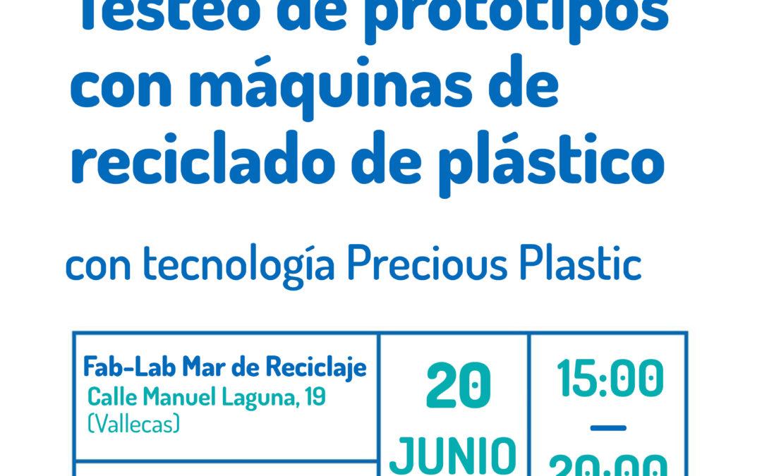 Taller Fab-Lab: Testeo de prototipos con máquinas de reciclado de plástico