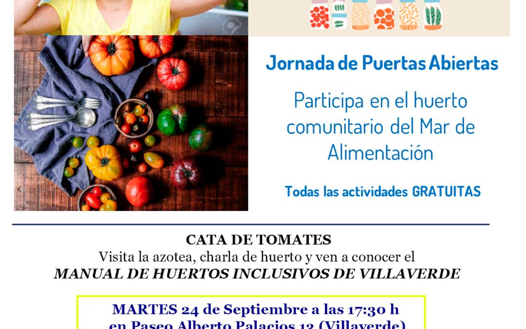 Jornada de puertas abiertas: participa en el huerto comunitario del Mar de Alimentación