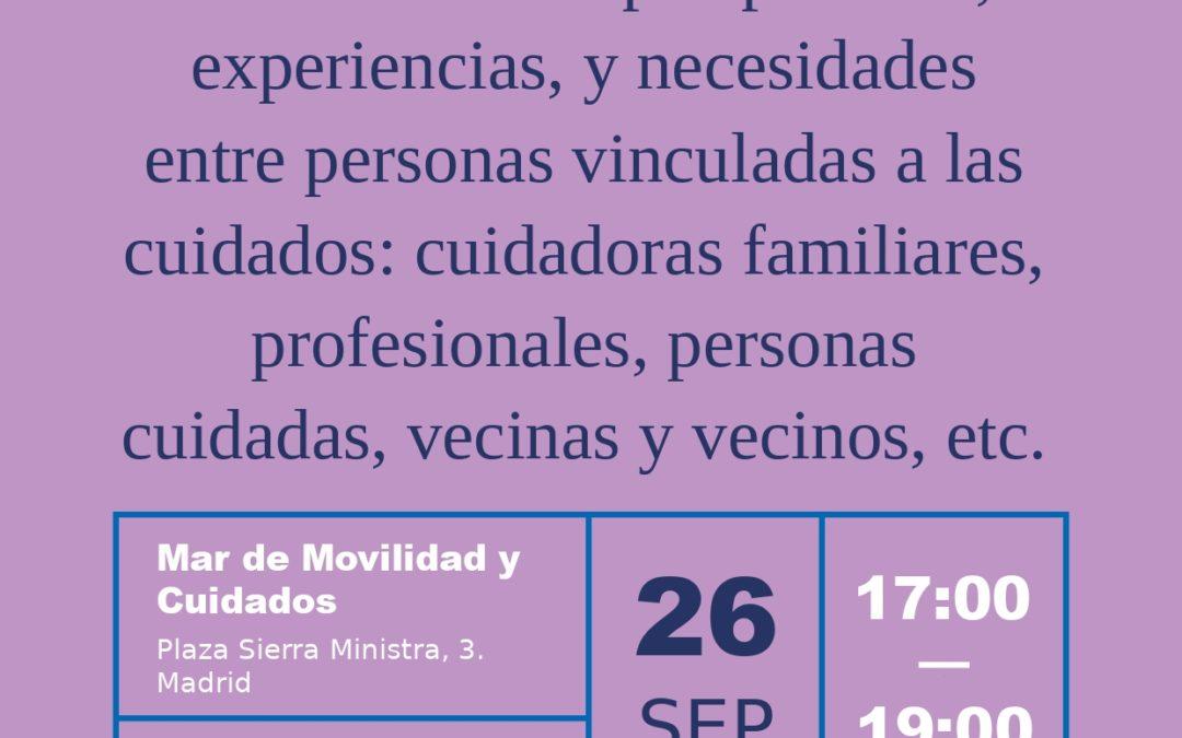Foro abierto: intercambio de perspectivas, experiencias, y necesidades entre personas vinculadas a los cuidados